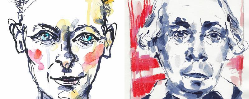 Portraits mit Tusche: Grundlagen