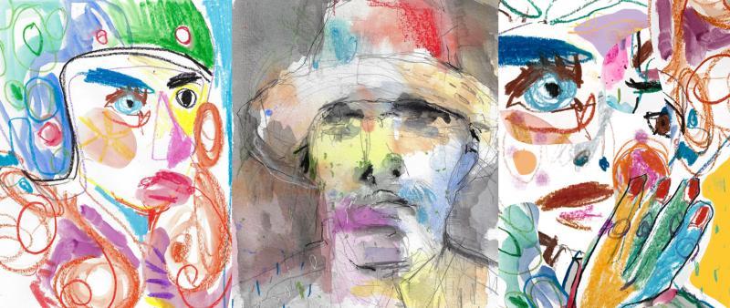 Portrait abstrakt