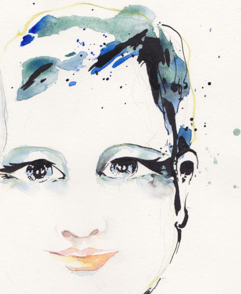 Aquarell Porträts & Tusche