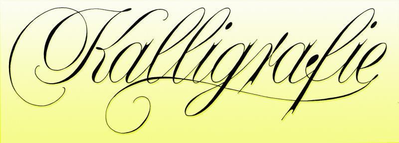 Kalligrafie - festlich und elegant