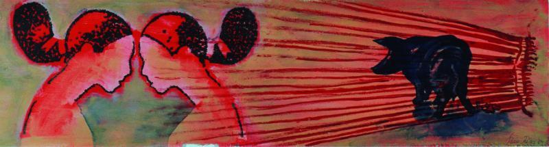 Zum experimentellen Umgang mit Farbe, Form und Material